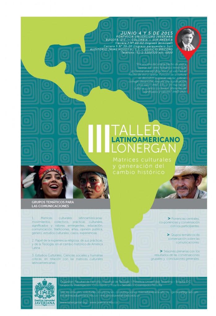 afiche FINAL III Taller latinoamericano Lonergan